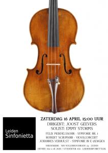 Leiden Sinfonietta voorjaarsconcert 2016